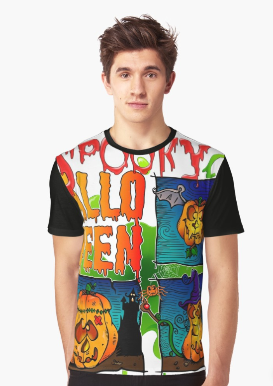 T-shirt graphique - Graphic t-shirt - Spooky Halloween #spookyoutfits