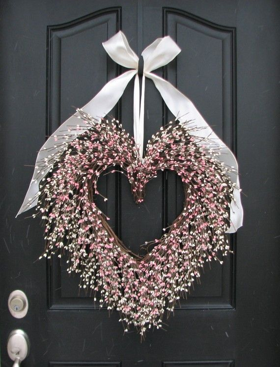 Photo of Valentine's Day Wreath – BFF Gift Wreath – Door Wreaths – Pink Heart Wreath – Large Decor Heart – Heart Decoration – Gifts for Women