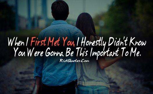 Love Quotes | When I First Met You Couple Love Hug Kiss ... Love Couple Kiss With Quotes