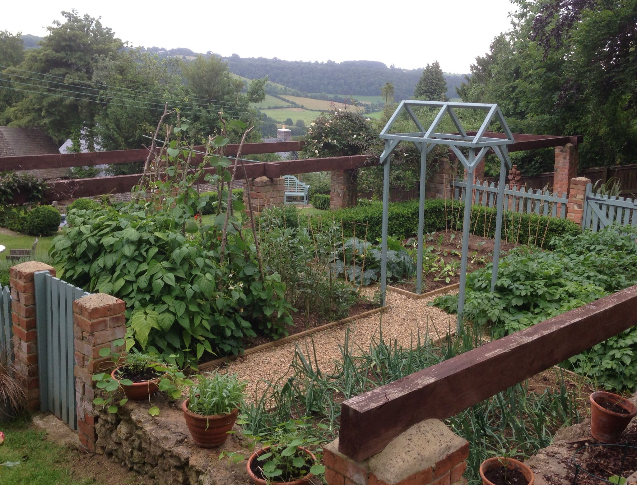 beautiful views across the slad valley from little orchard s kitchen garden garden visits on kitchen garden id=38539