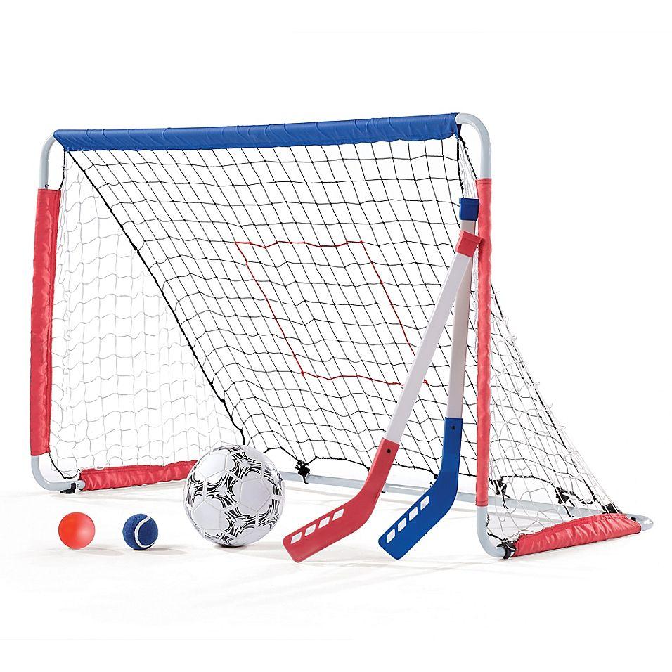Step2 Kickback Soccer Goal And Pitch Back Multi Hockey Goal Hockey Soccer