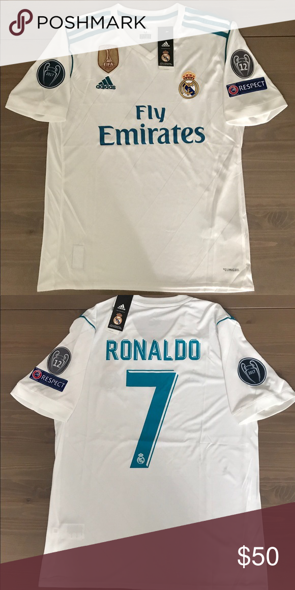 Real Madrid White Ronaldo 7 Soccer Jerseys Ronaldo Soccer Jersey Real Madrid