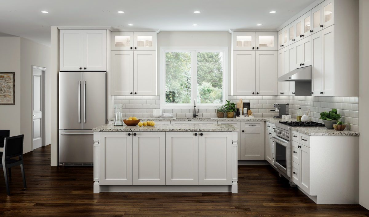 All Wood RTA 10X10 Transitional Shaker Kitchen Cabinets in Elegant White Modern | eBay & Details about All Wood RTA 10X10 Transitional Shaker Kitchen ...
