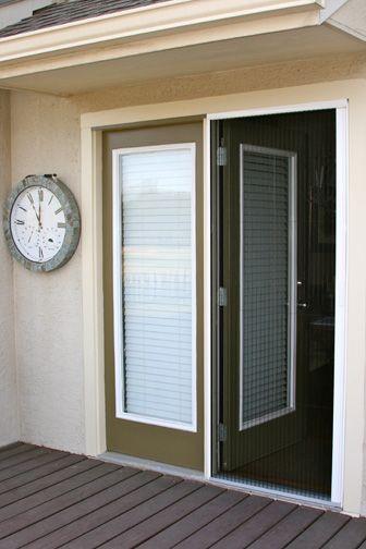 Plisse Retractable Screen Retracted On Atrium Door From Far Away