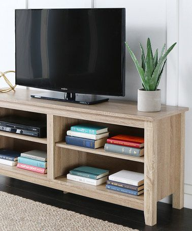 Walker Edison 58 Natural Wood Tv Stand Console