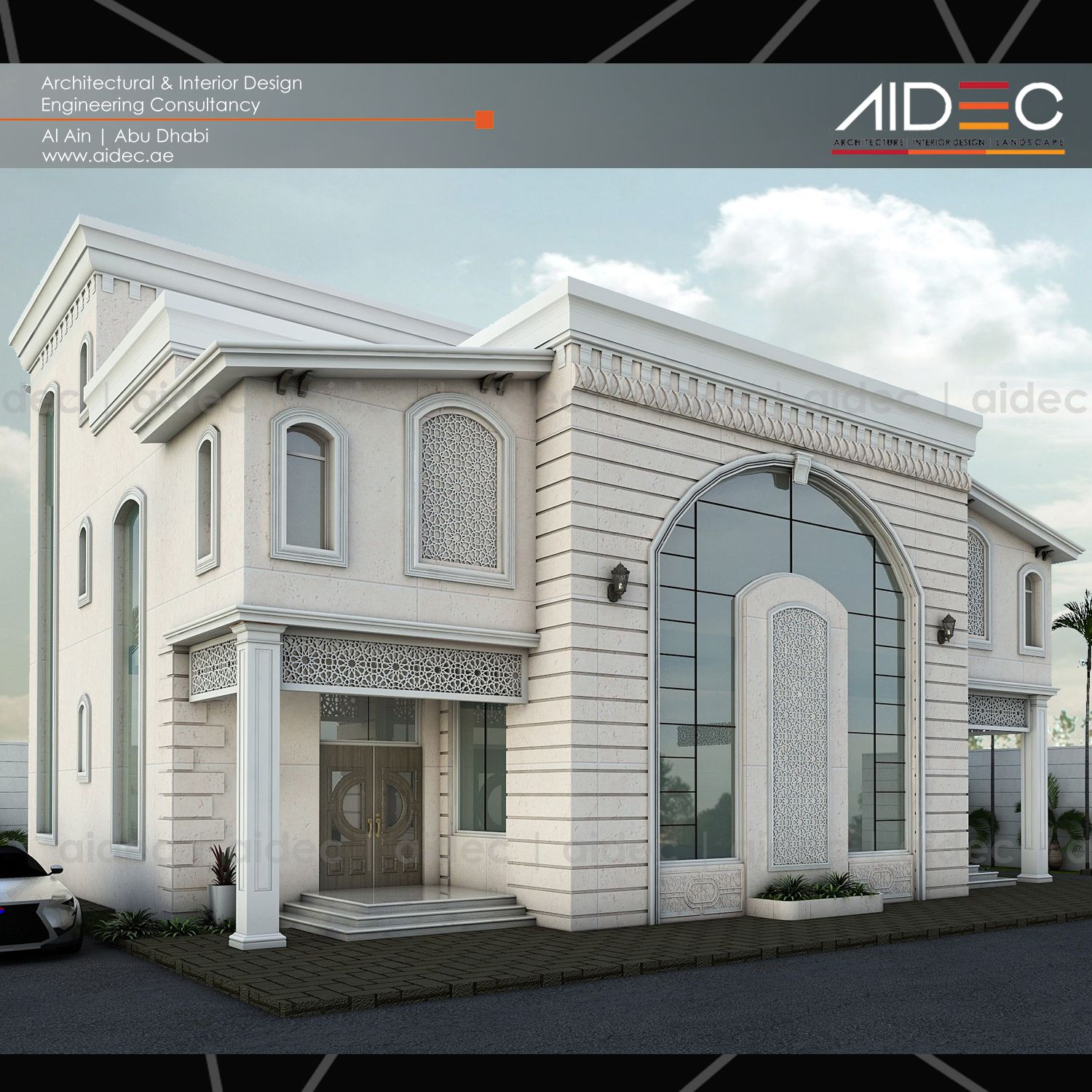 Proposed private residential villa modern classic design for Modern house uae
