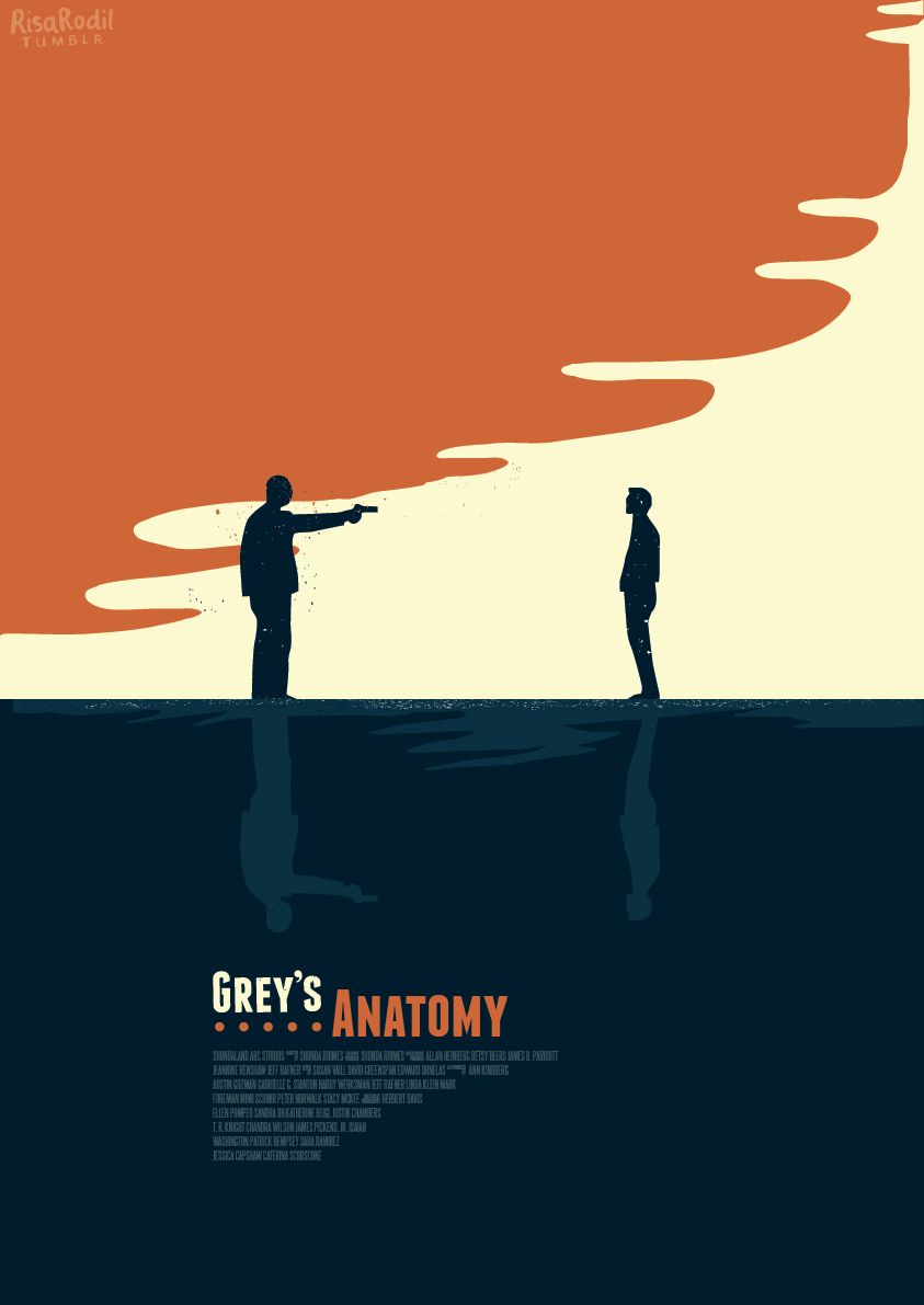 Greys Anatomy 2005 Minimal Tv Series Episode Poster By Risa