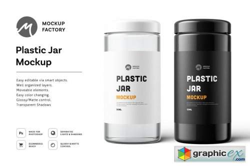 Plastic Jar Mockup 4877775 Free Download Vector Stock Image Photoshop Icon