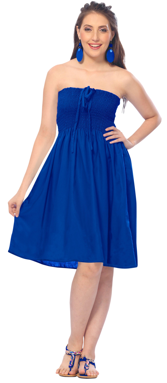 Evening Beach Tube Dress Maxi Skirt Backless Sundress Halter Boho Party  Swimsuit Dress 8fb872b35
