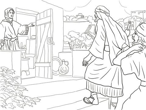 New Room Built For Elisha Coloring Page From Prophet Elisha