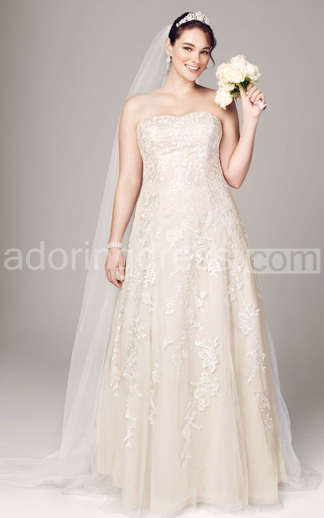 David wedding dress  Pin by Mary Sharon on Wedding Dresses Plus Size  Pinterest  Tulle