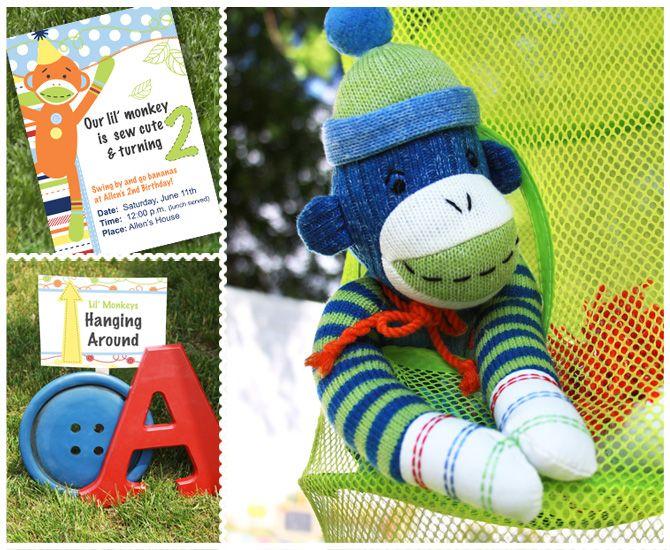 Sock Monkey Party by Renee of Creative Orchard via www.babyshowerideas4u.com #babyshowerideas4u