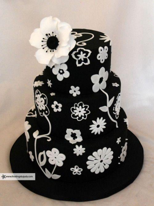Katiesheadesign Black White Cake That Has So Many Potential Variation Possibilities