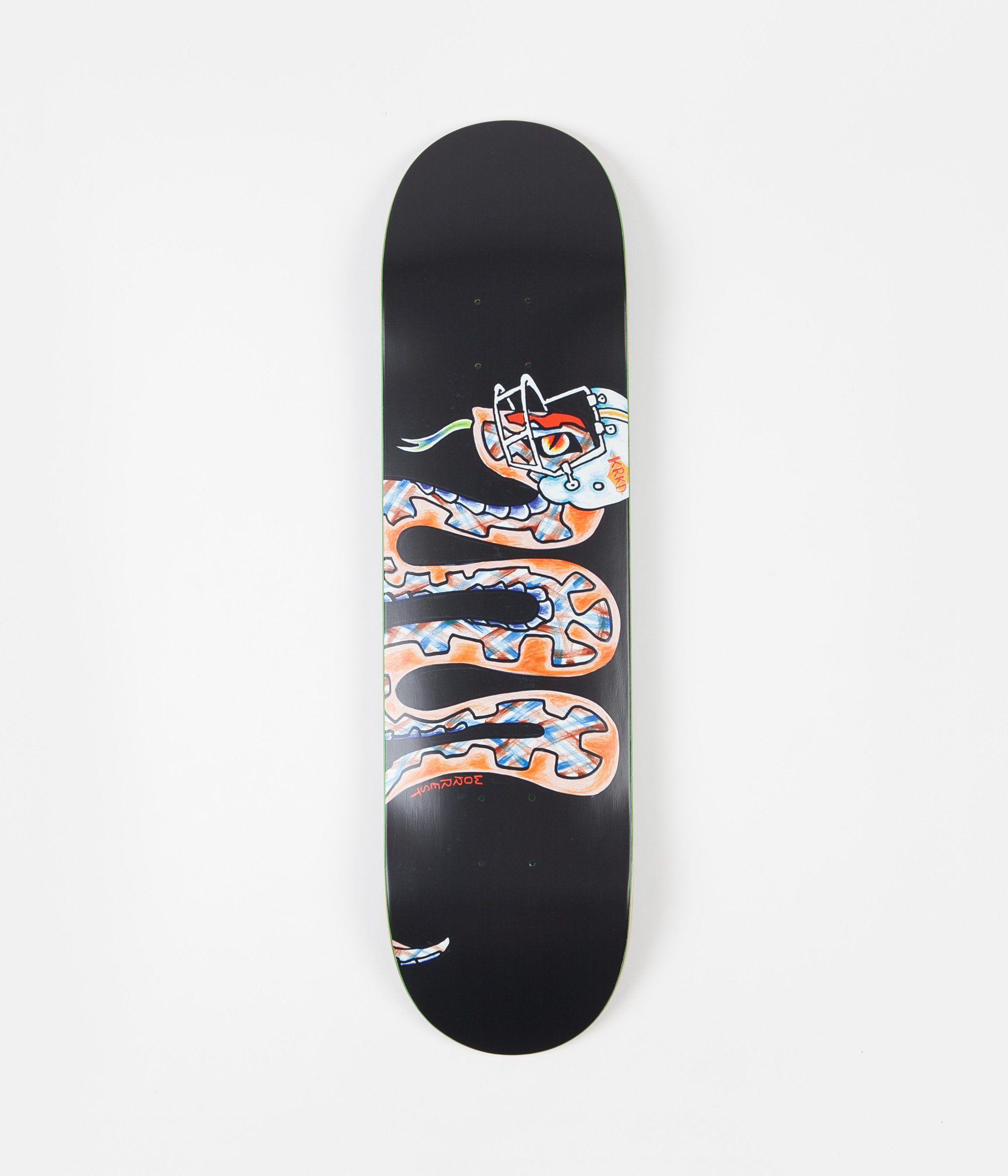 Krooked Worrest Mvp Pro Deck Black 8 12 Skateboards Skateboard Store Football Helmets Black