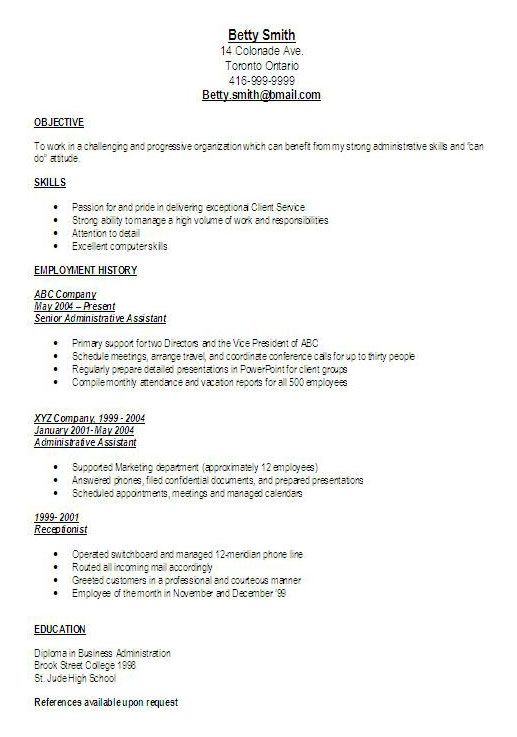 Great Administrative Assistant Resumes good administrative - cover letters for administrative assistant positions