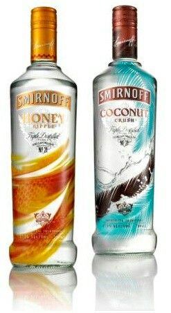 2 New Smirnoff Flavours Honey And Coconut With Shrink Sleeve