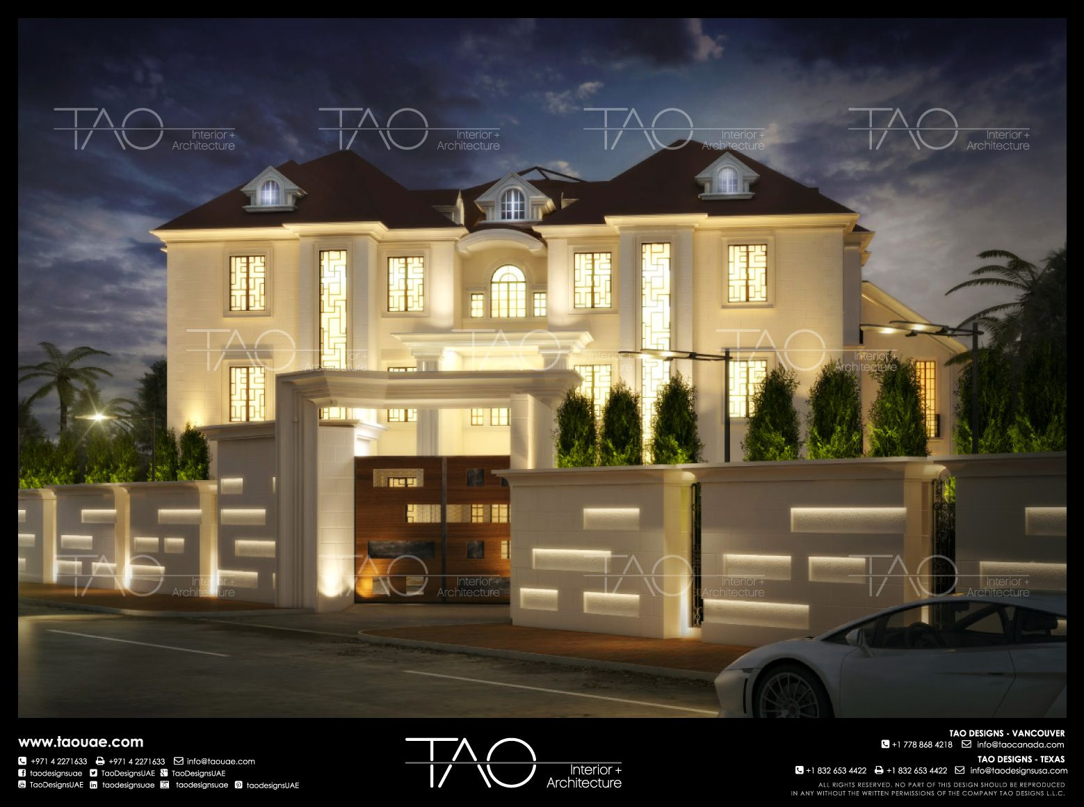 Private villa in nigeria main entrance gate view in nigeria by tao designs llc