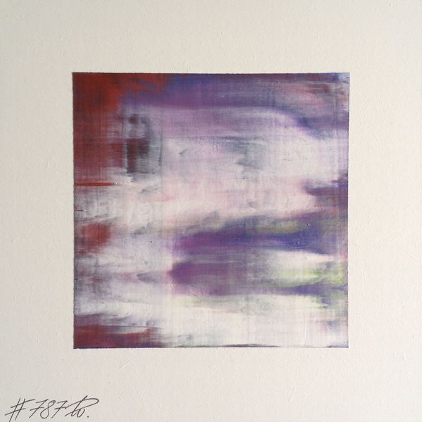 #787 | square abstract painting (original) | acrylic on white board | size approx. 9,5 x 9,5 cm | boardsize 15 x 15 cm | http://quadrART.kunstweber.com