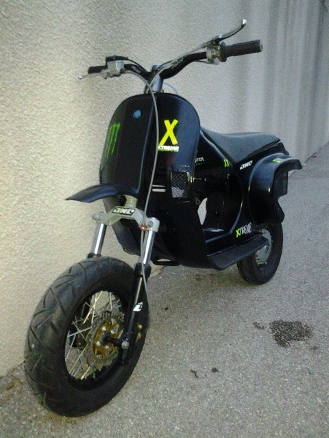 Vespa Cross Reconstruction With Motorbike Suspension Forg Little