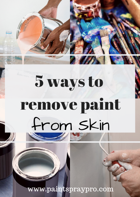 How To Get Spray Paint Off Hands Paint Drying Best Paint Sprayer Cleaning Paint Brushes