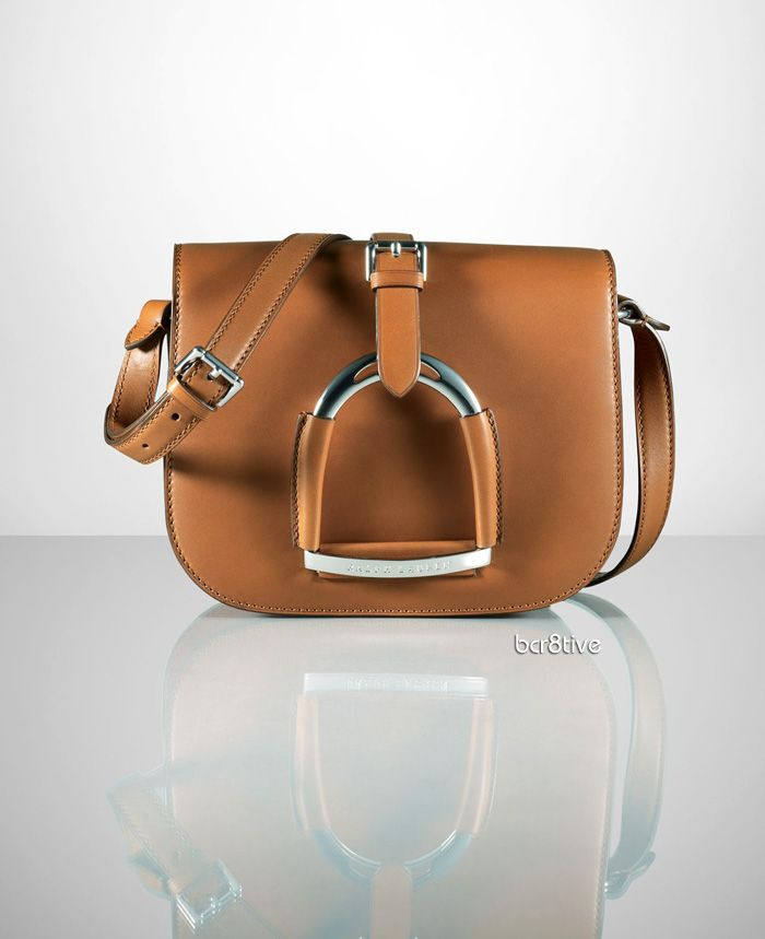 b0e529a51df5 Ralph Lauren Calfskin Stirrup Shoulder Bag