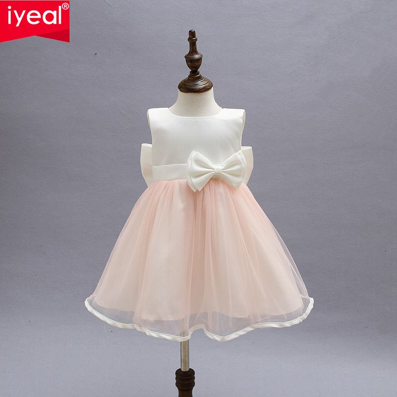 764466110e61 Find More Dresses Information about Kid Dresses For Girls Children Infant  Toddler Princess Party Wedding Dresses With Bow for Summer Girls Clothes 2  8 Years ...