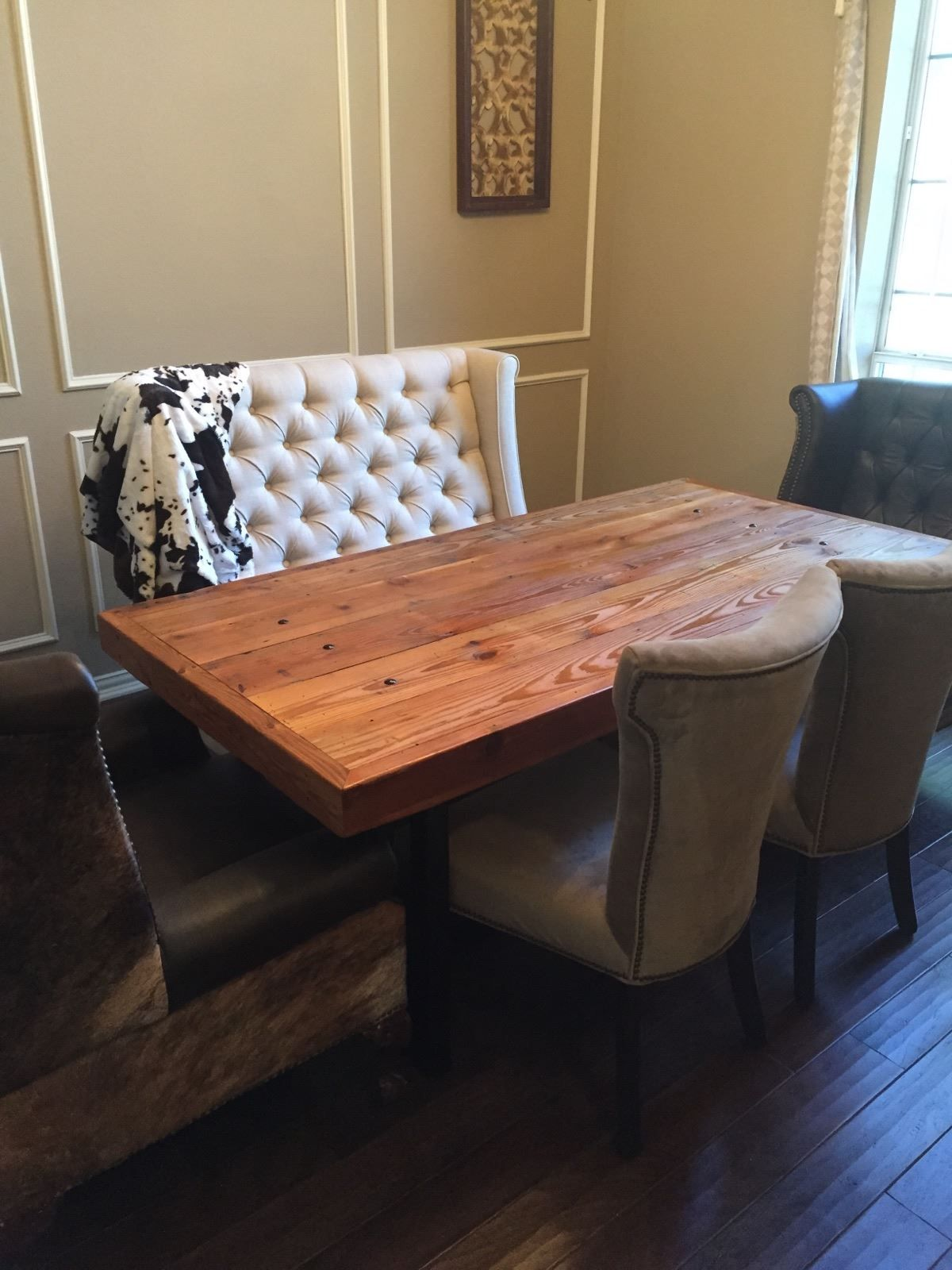 We Love This Table Which Was Built Using Our Reclaimed Wood Antique Lumber Company Reclaimed Wood Dining Table Reclaimed Wood Reclaimed Wood Projects
