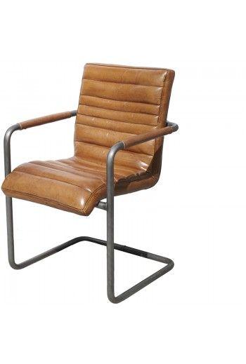 Le fauteuil cuir Chicago marron clair de chez Lifestyle au style