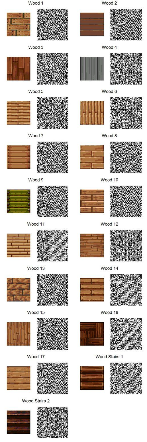ACNL QR Code Wood Tiles (If too small, use download link