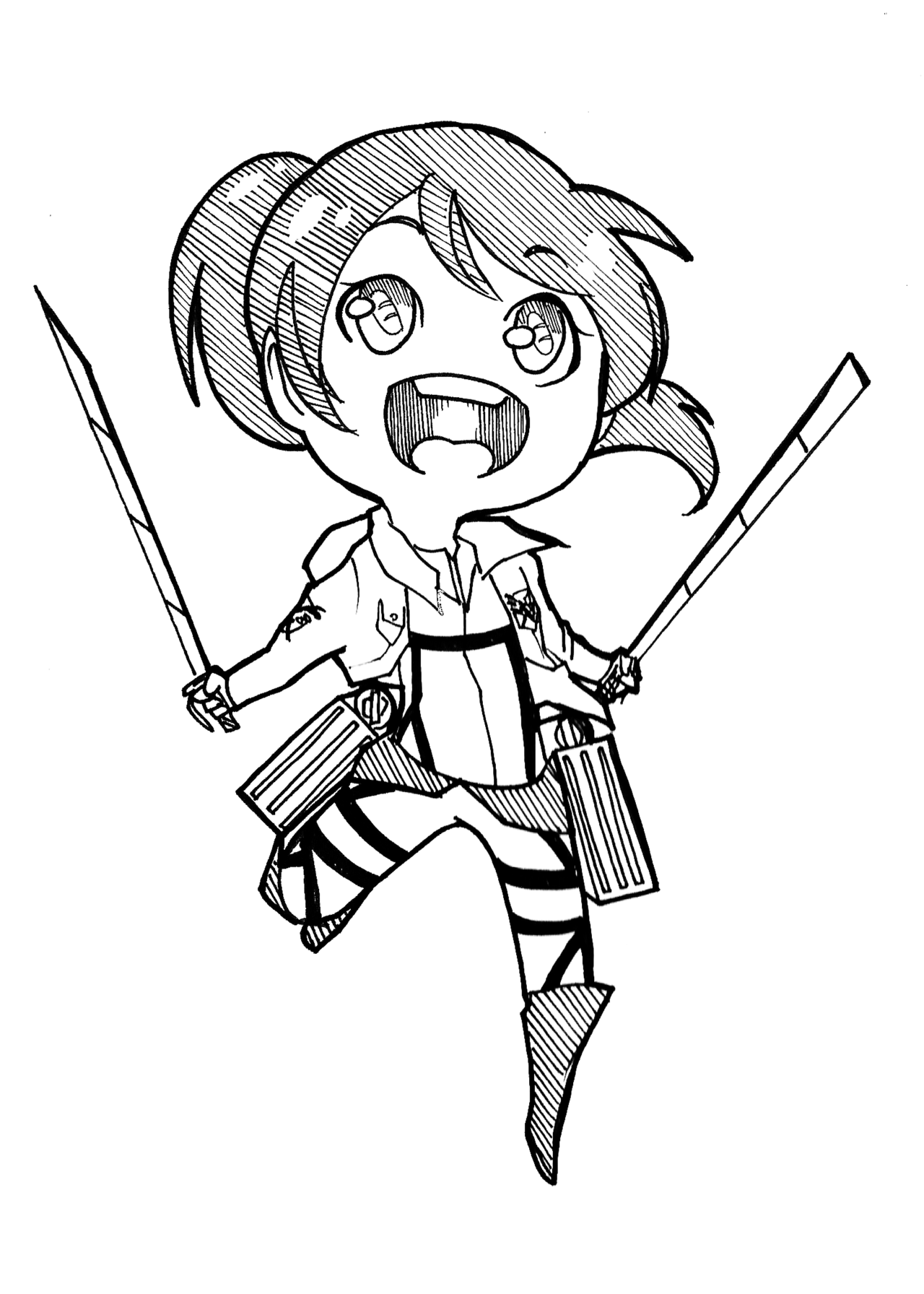 Attack On Titan Chibi Coloring Pages Malvorlagen Chibi Ausmalbilder