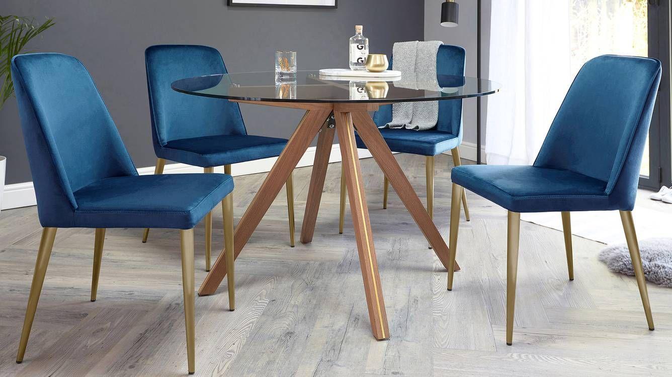 Bay Sapphire Blue Velvet Dining Chair In 2020 Dining Chairs Velvet Dining Chairs Blue Velvet Dining Chairs