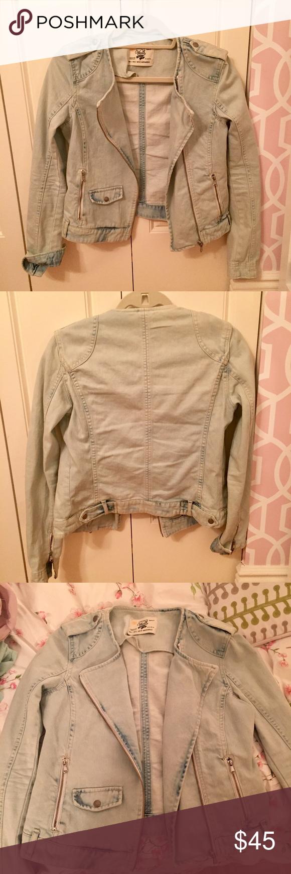 Zara Denim Jacket Amazing Zara light denim jacket! So cute! Worn once. Size small. Zara Jackets & Coats Jean Jackets