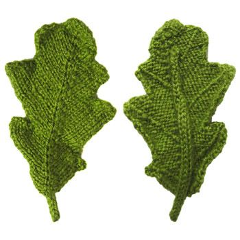 front and back of a knitted oak leaf - free pattern, pdf available ...