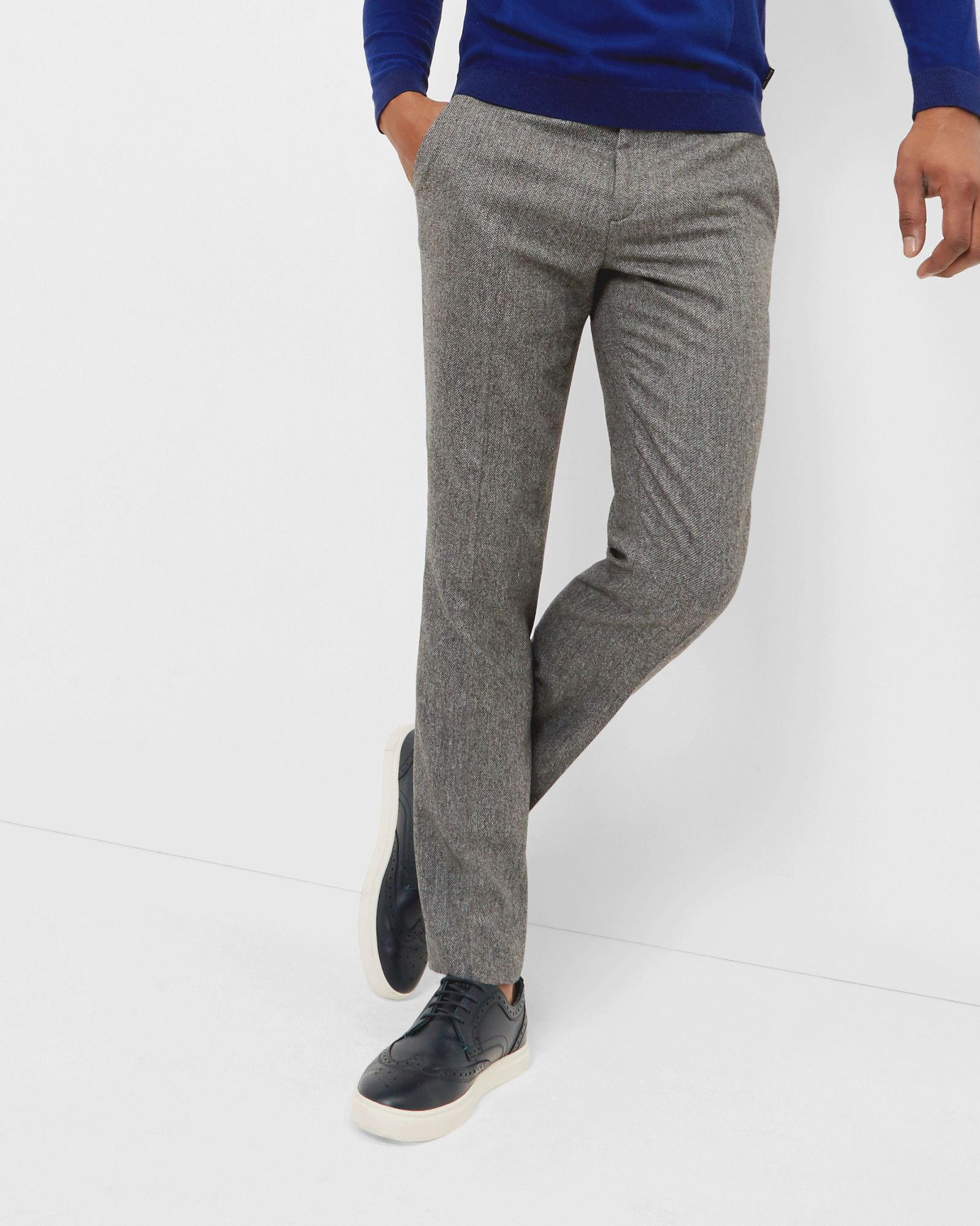 27961e95f95d44 Herringbone wool pants - Gray