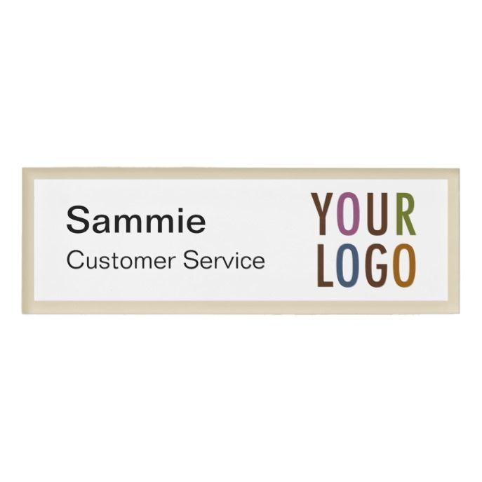 Custom printed magnetic name badge with logo solutioingenieria Choice Image