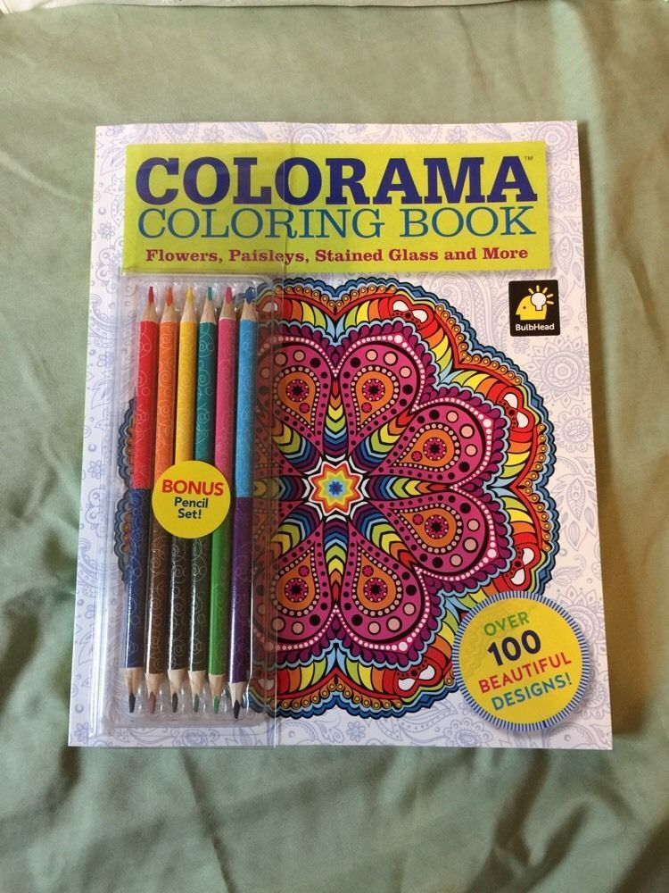 New Colorama Coloring Book As Seen On TV W Pencils Free 2 Day Priority Shipping 0990963543
