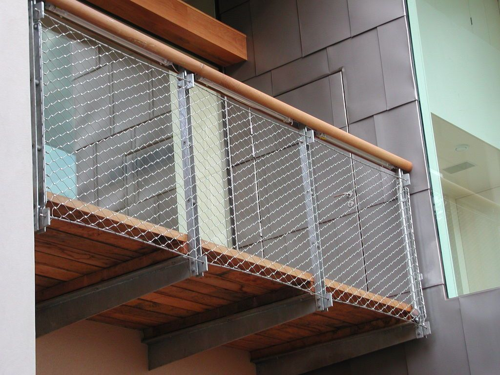 images of contemporary wire mesh stair railings - Google Search ...