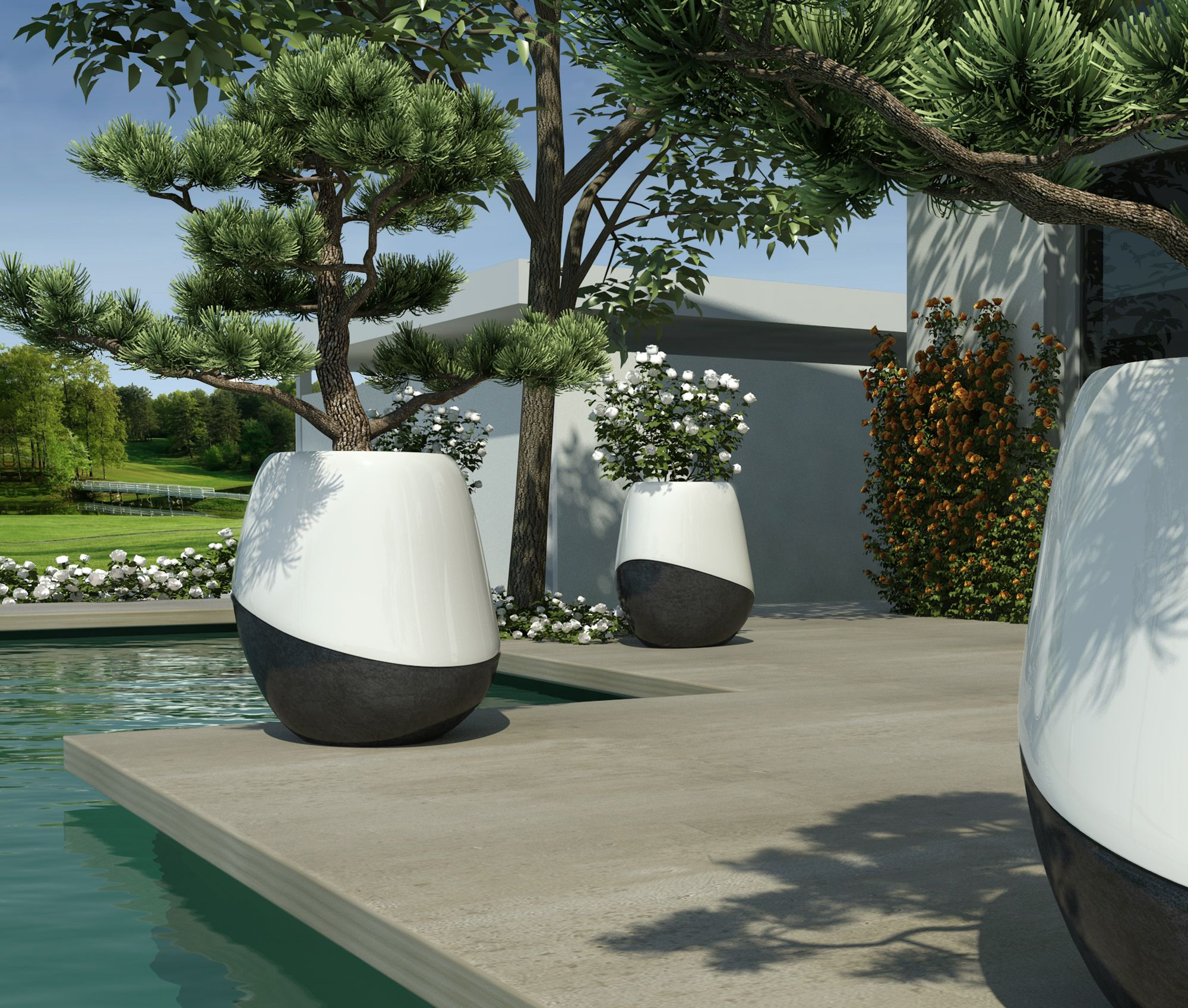 outdoor i round design landscaping awesome extra landscape ideas vases scheme planter inspiration pot planters exterior decor of