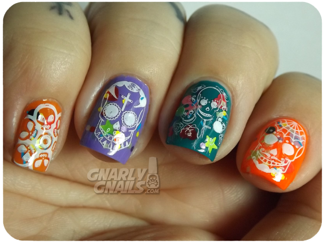day of the dead nails - Google Search   Halloween   Pinterest   Toe ...