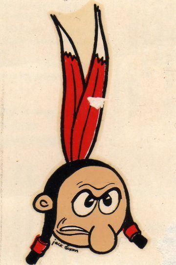 Original Vintage 1960 Stanford University Football Indian Mascot Decal Sticker College Football Logos Mascot Stanford University Football
