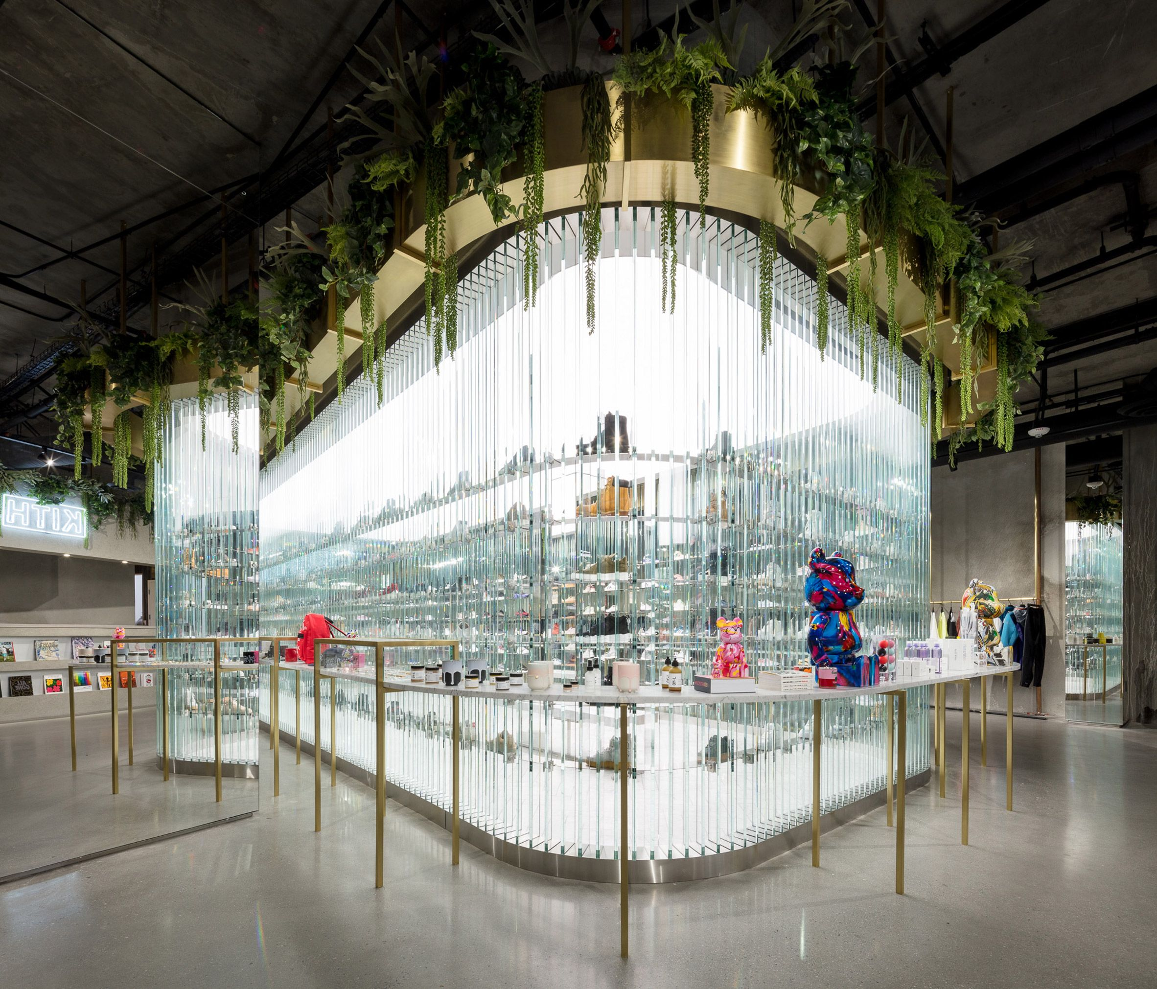 cb4d7ca564a70 Snarkitecture creates bright shoe display in Kith s Los Angeles store
