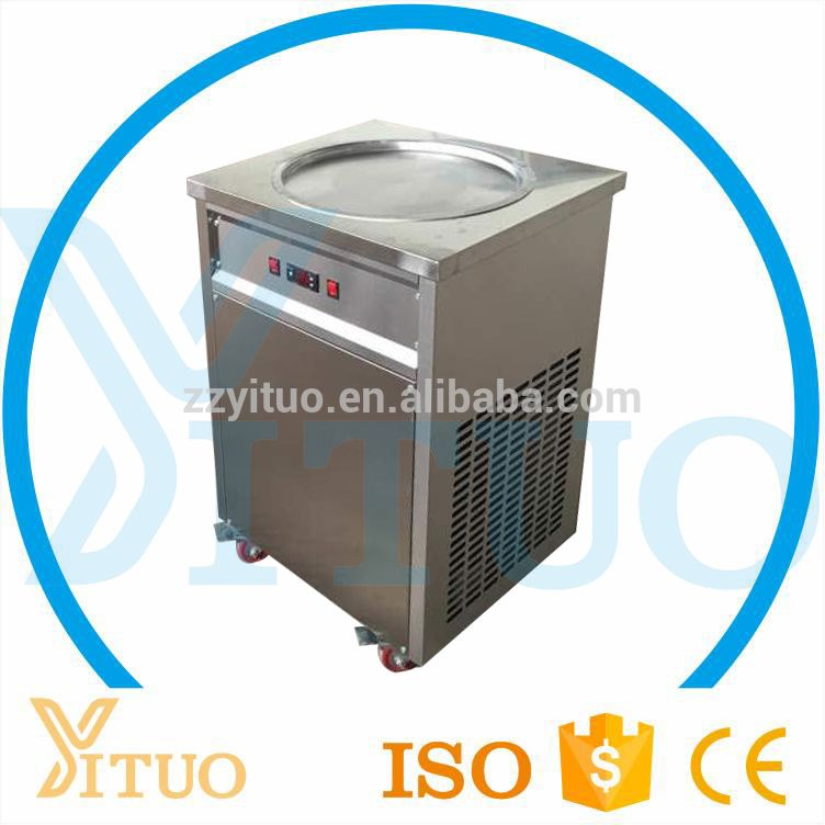 Commercial Popular 35 Degree 50cm Single Flat Pan Ice Cream Cold