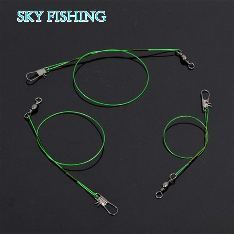 20pcs\/lot Green Stainless Steel Fishing Line Fishing Trace Lures - line leader