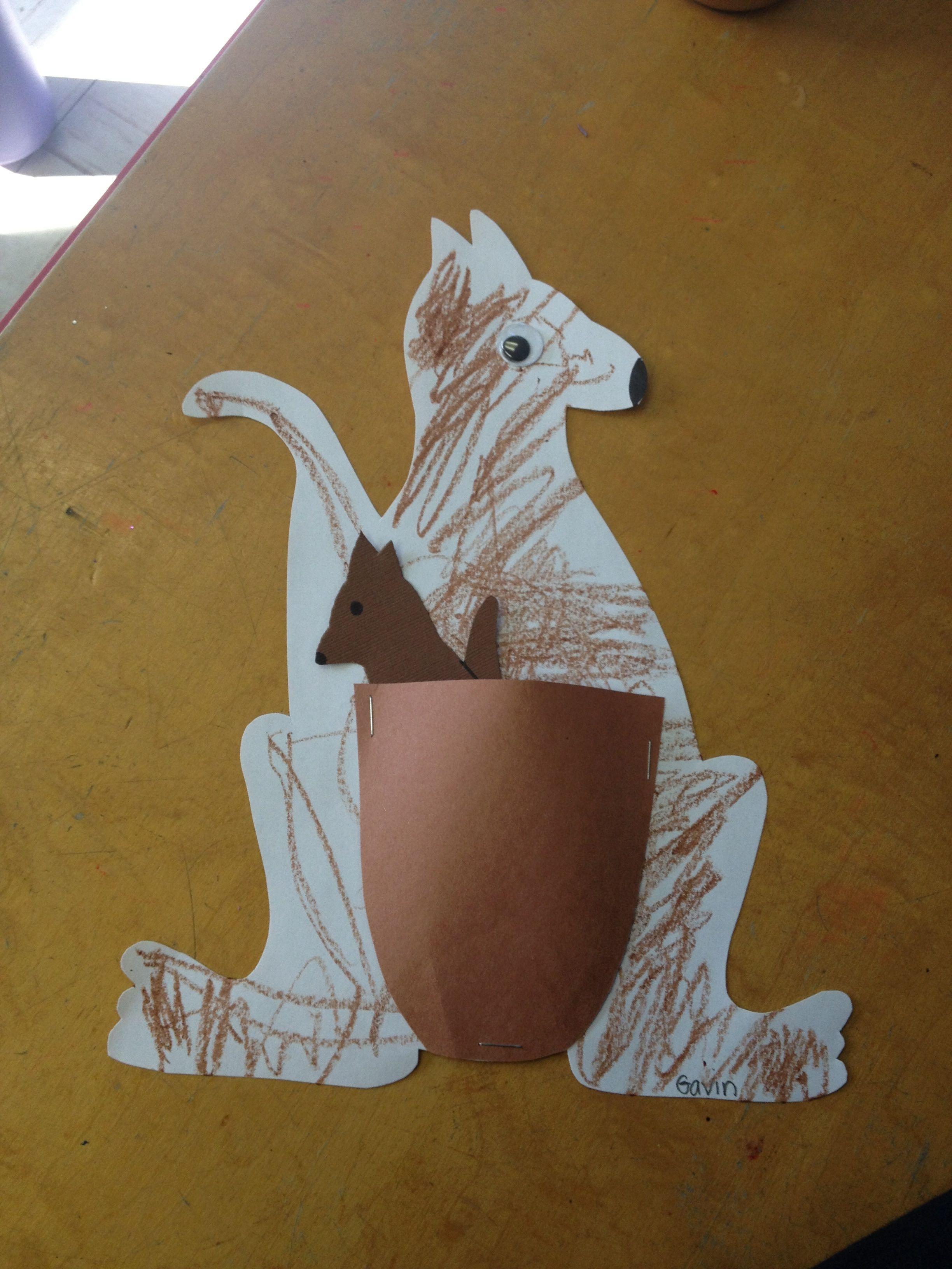 Preschool Kk For Kangaroo Removable Joey