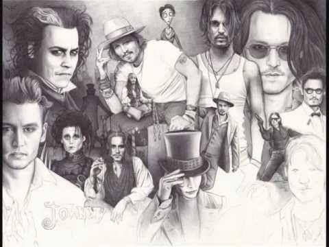 ▶ Ballpoint pen drawing - Johnny Depp's Portraits - YouTube