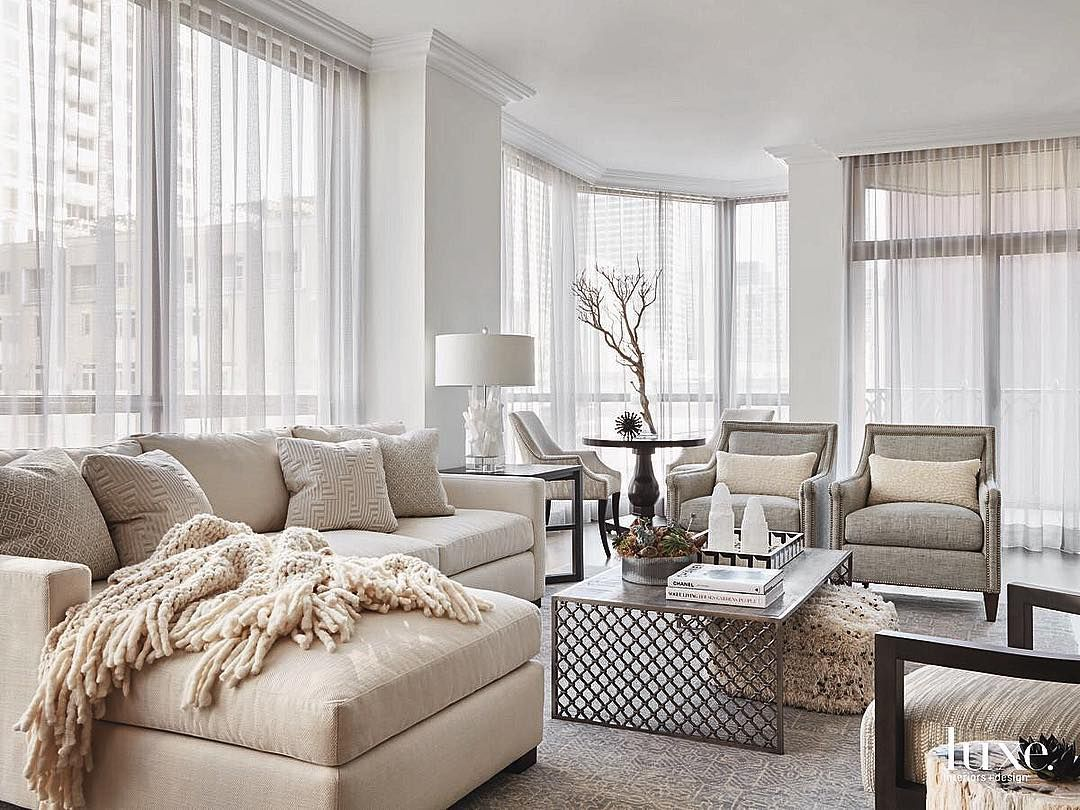 Soothing colors create a cozy space. #LuxeAtHome. @sandow | Photo ...