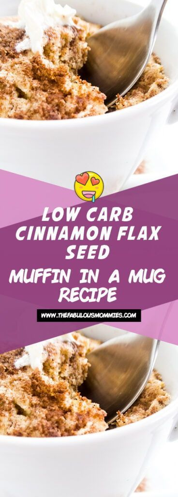 Photo of LOW CARB CINNAMON FLAX SEED MUFFIN IN A MUG RECIPE