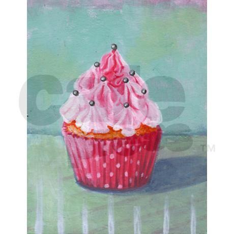 Pink Mountain Cupcake   Shower Curtain