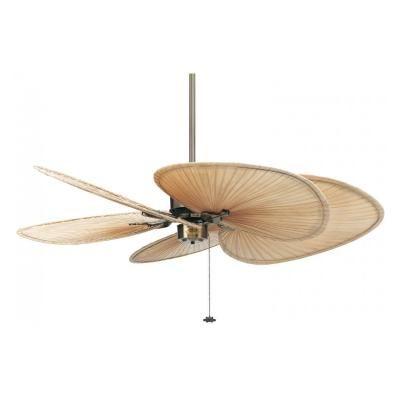 Ventilador De Techo Islander Laton Antiguo Con Aspas De Palmera