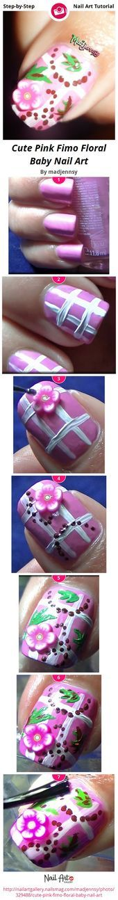 Photo of Cute Pink Fimo Floral Baby Nail Art by madjennsy  Nail Art Gallery Step-by-Step